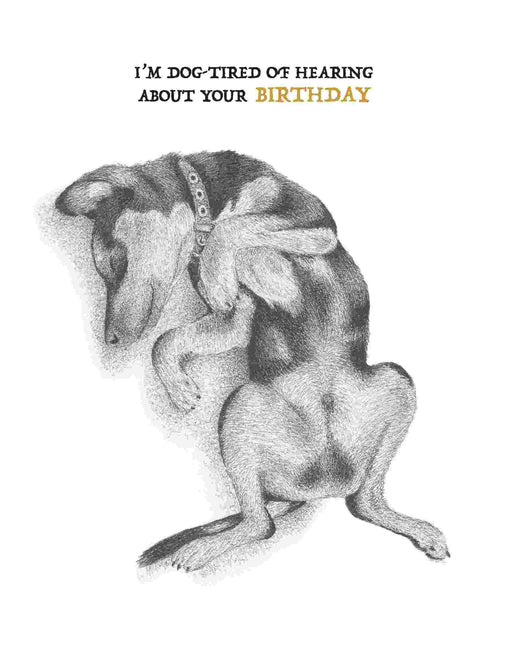 Squirrel Design Studio-Sleeping Dog - Birthday Card-Mott and Mulberry