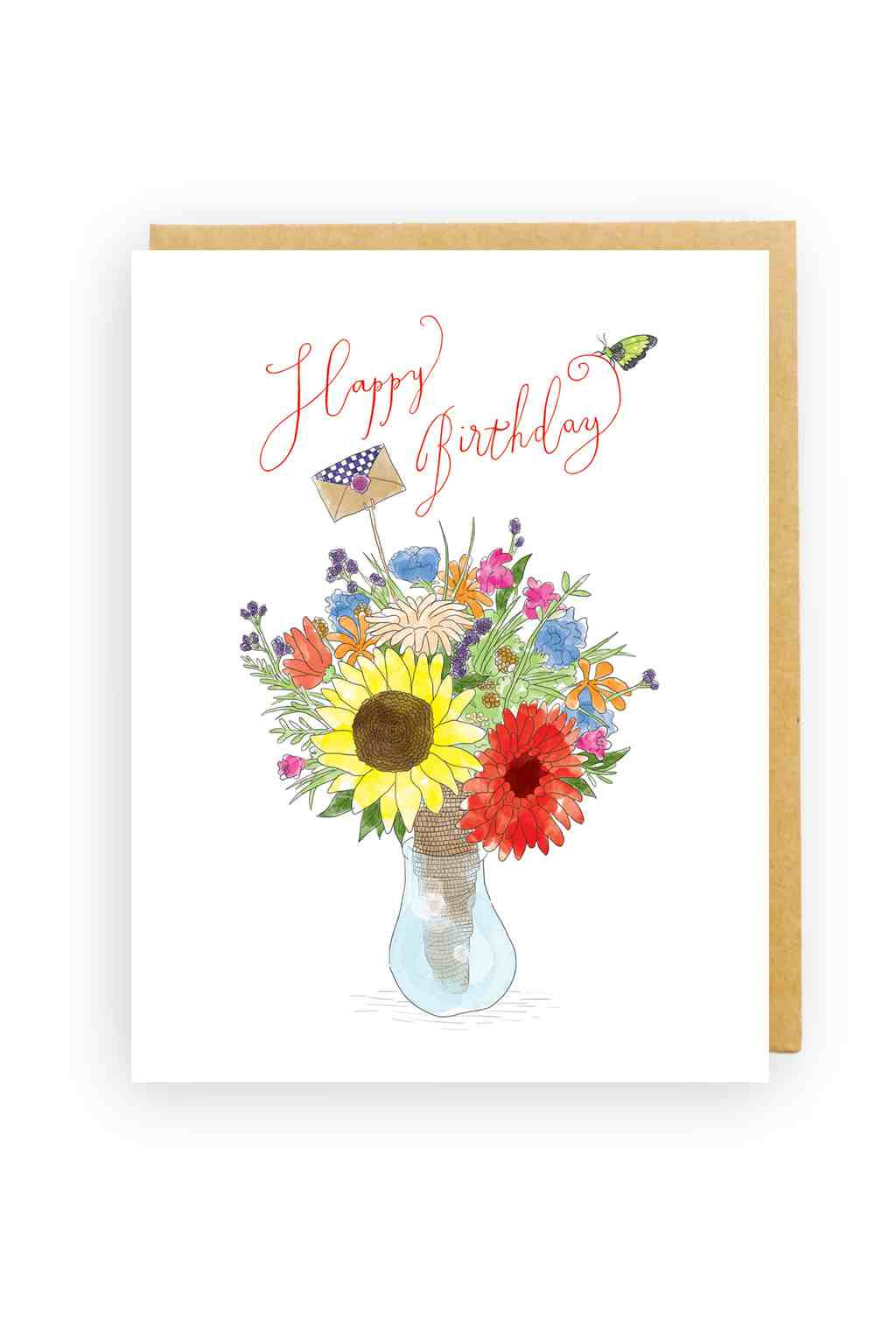 Squirrel Design Studio-Flowers In A Vase - Birthday Card-Mott and Mulberry