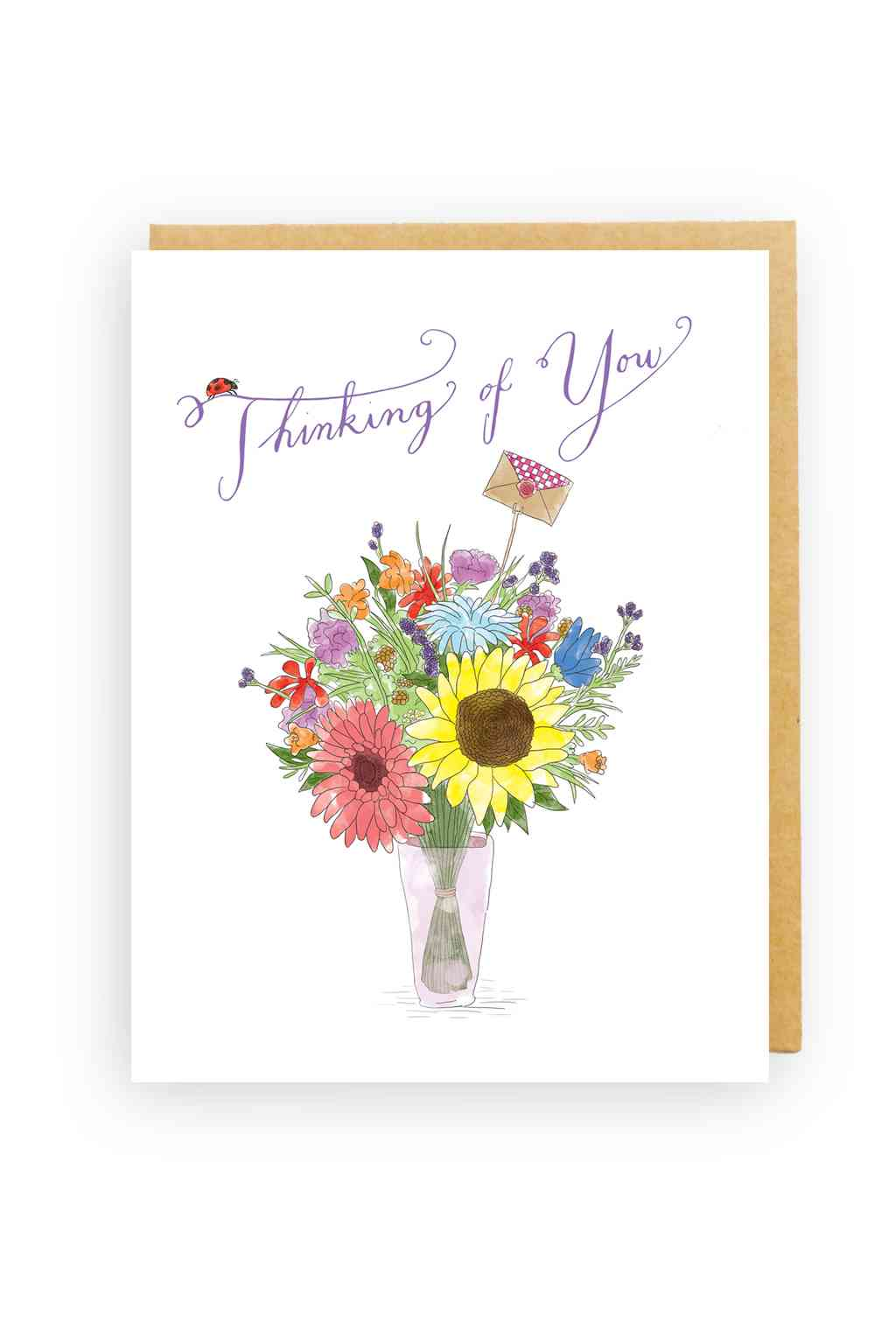 Squirrel Design Studio-Flowers In A Vase - Sympathy Card-Mott and Mulberry