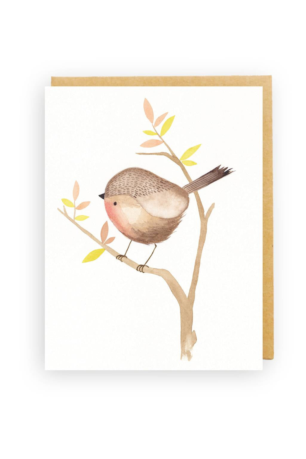 Squirrel Design Studio-Red Robin - Greeting Card-Mott and Mulberry