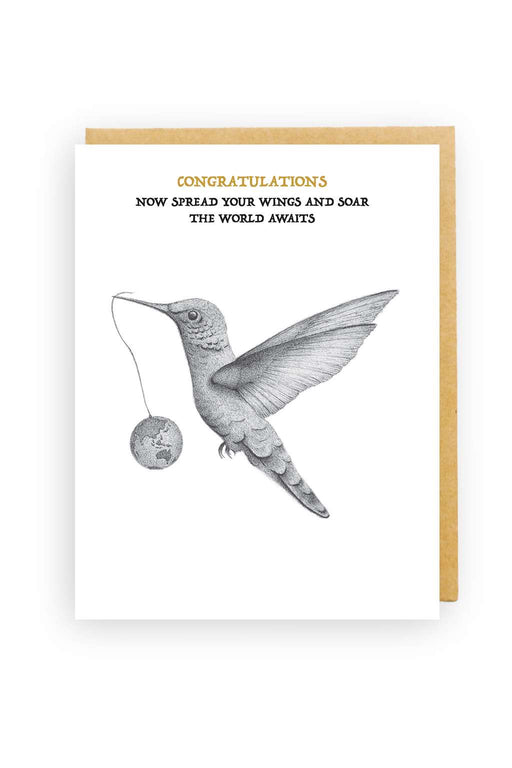 Squirrel Design Studio-Hummingbird - Congratulations Card-Mott and Mulberry