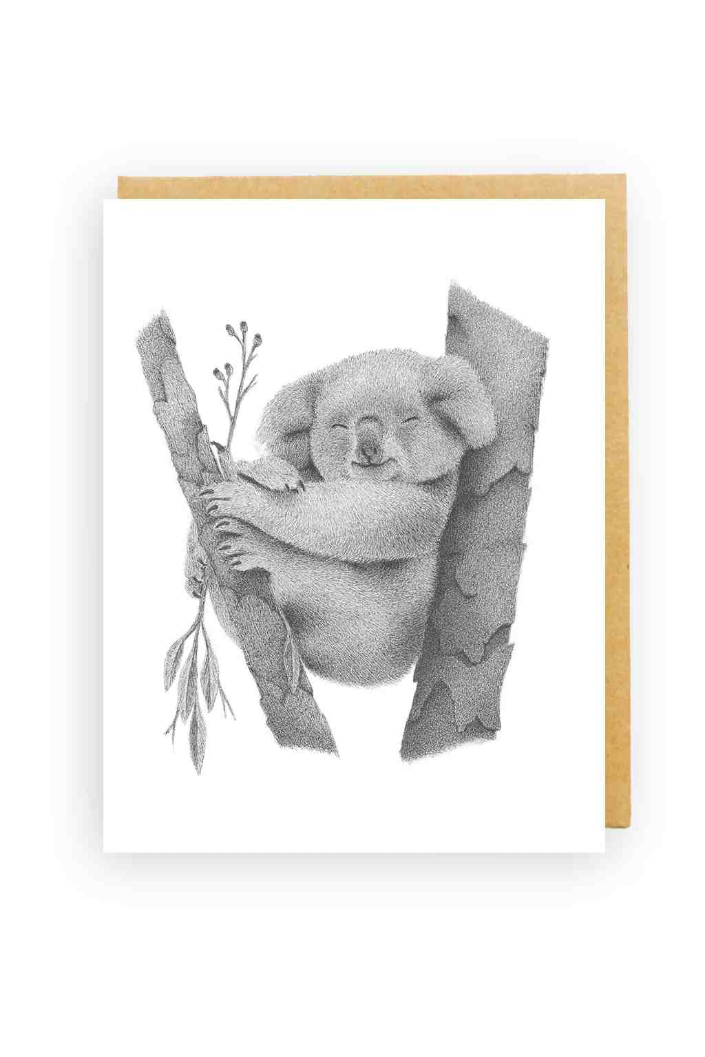 Squirrel Design Studio-Koala In Gumtree - Greeting Card-Mott and Mulberry