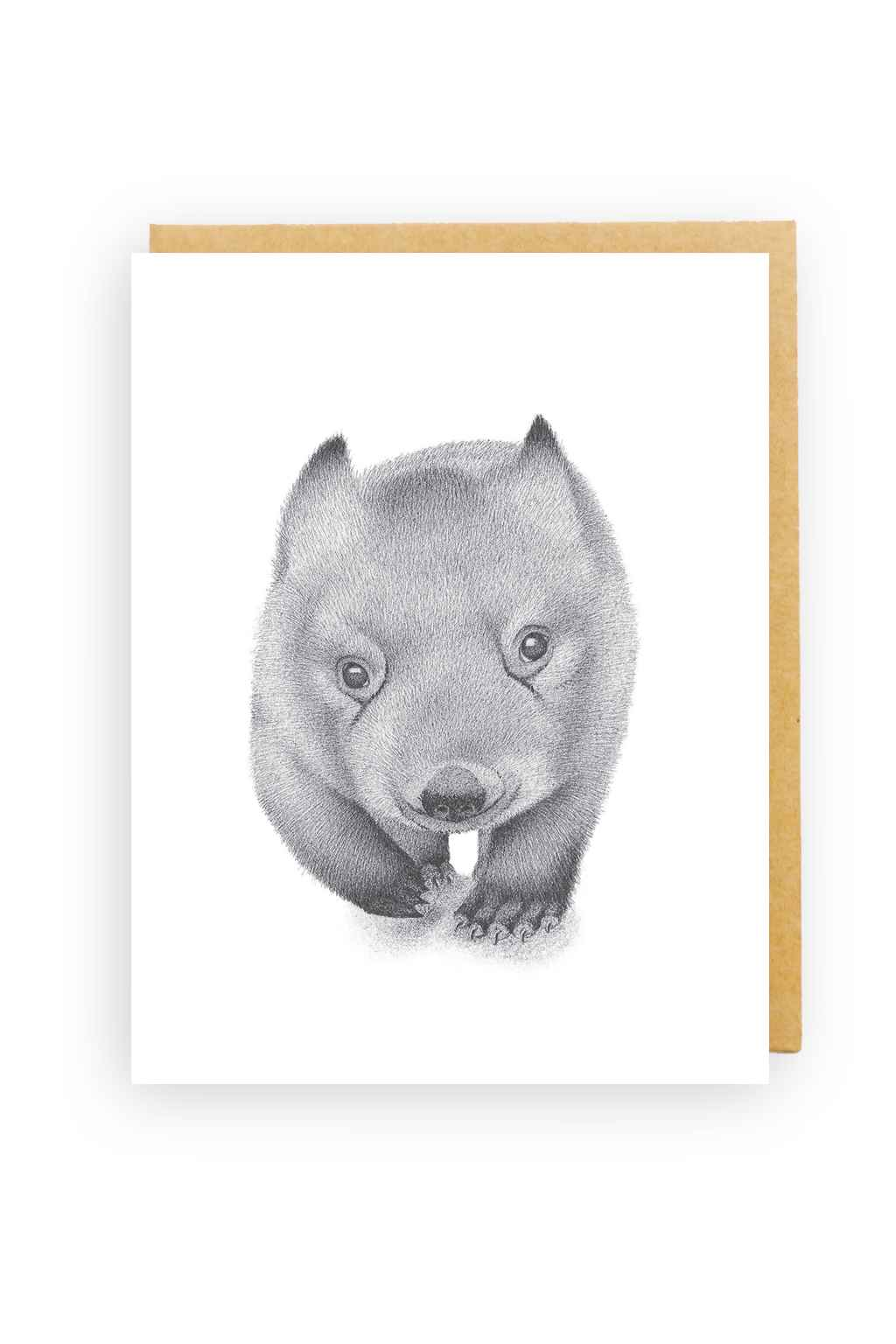 Squirrel Design Studio-Wombat - Greeting Card-Mott and Mulberry