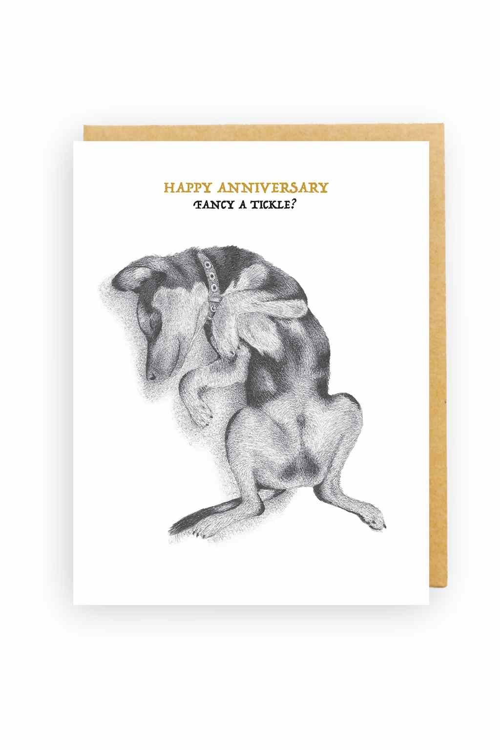 Squirrel Design Studio-Sleeping Dog - Anniversary Card-Mott and Mulberry