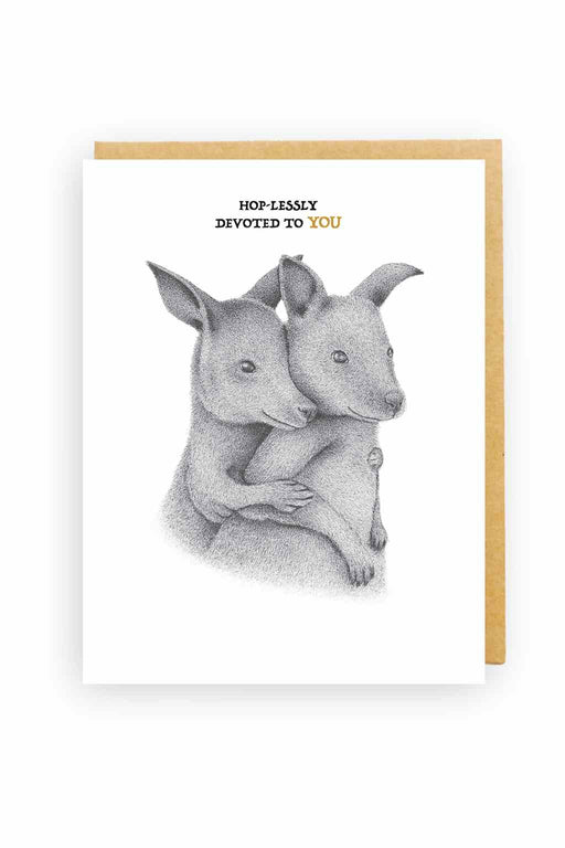 Squirrel Design Studio-Cuddling Joeys - Love Card-Mott and Mulberry