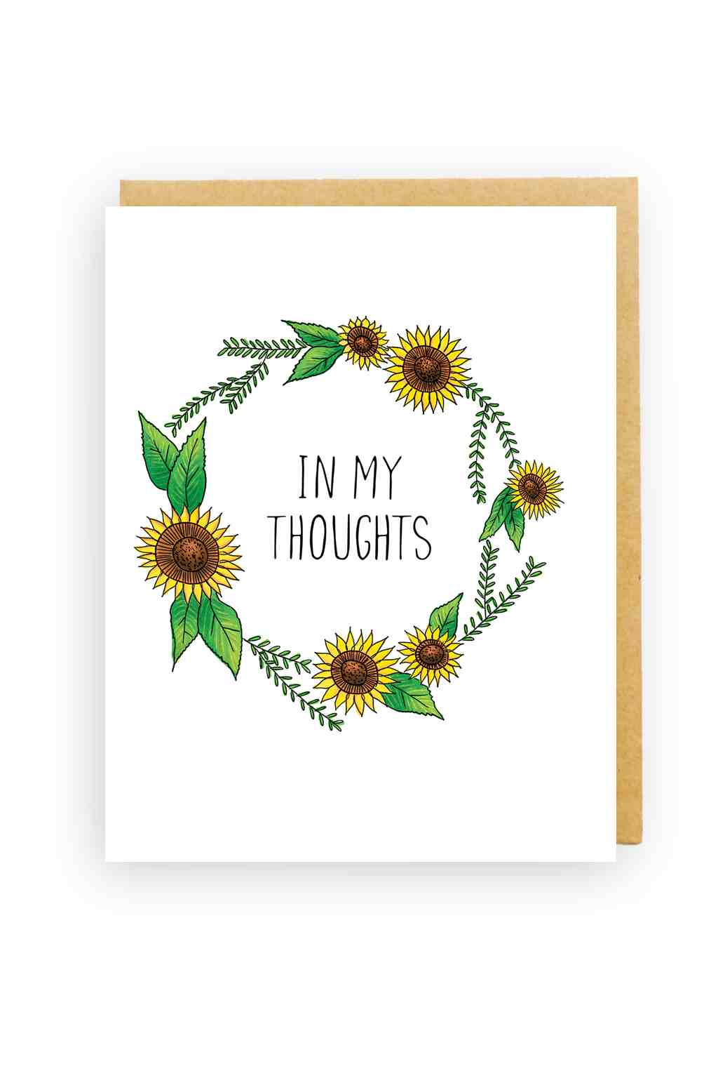 Squirrel Design Studio-Sunflower Wreath - Sympathy Card-Mott and Mulberry