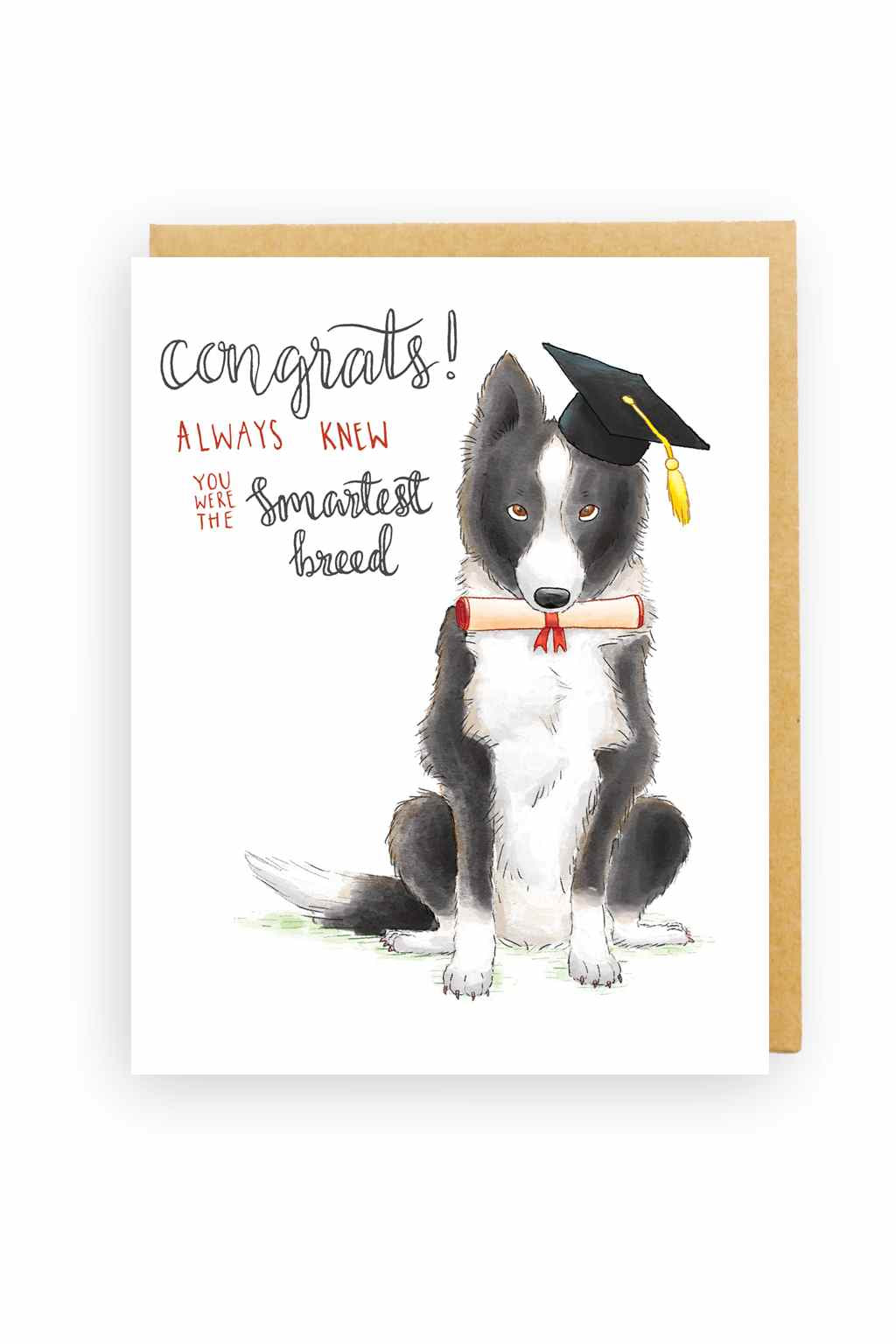 Squirrel Design Studio-Smartest Breed - Graduation Card-Mott and Mulberry