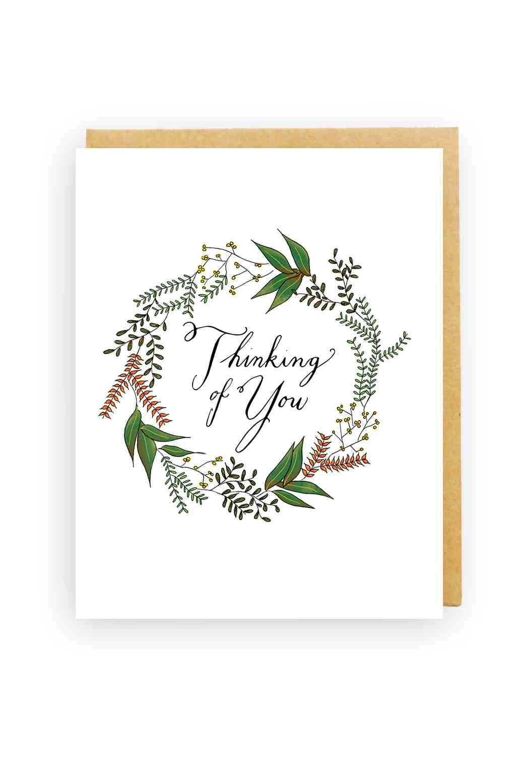 Squirrel Design Studio-Rosemary Wreath - Sympathy Card-Mott and Mulberry