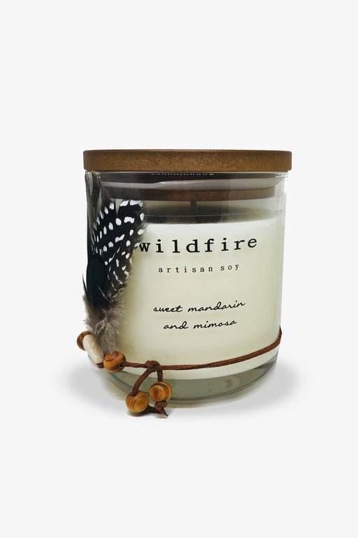 Wildfire-Sweet Mandarin and Mimosa Candle Candle-Mott and Mulberry