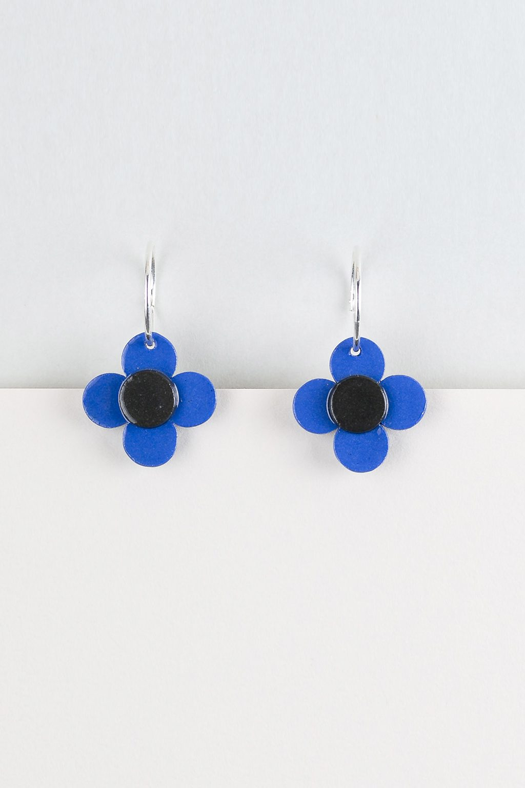 Erin Lightfoot-Flower Hoop Earring - Blue-Mott and Mulberry