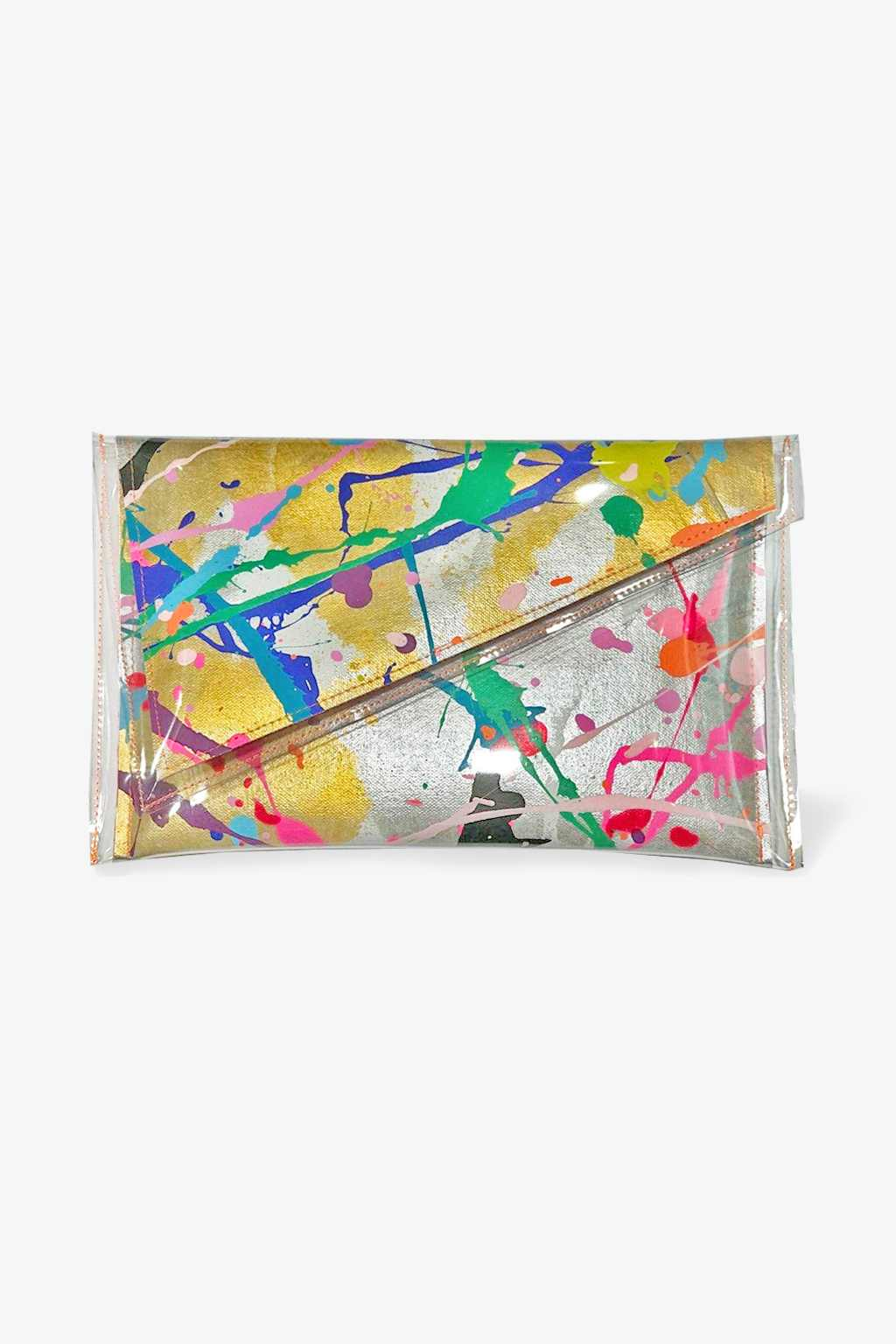 Tiff Manuell-Tiff Manuell Angled Clutch - Party Popper-Mott and Mulberry