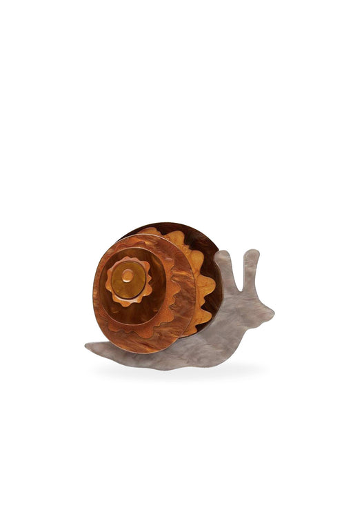 Erstwilder-Reticulated Rebel Snail Brooch-Mott and Mulberry