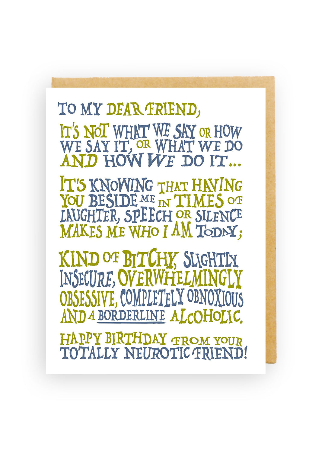 Squirrel Design Studio-To My Dear Friend - Birthday Card-Mott and Mulberry