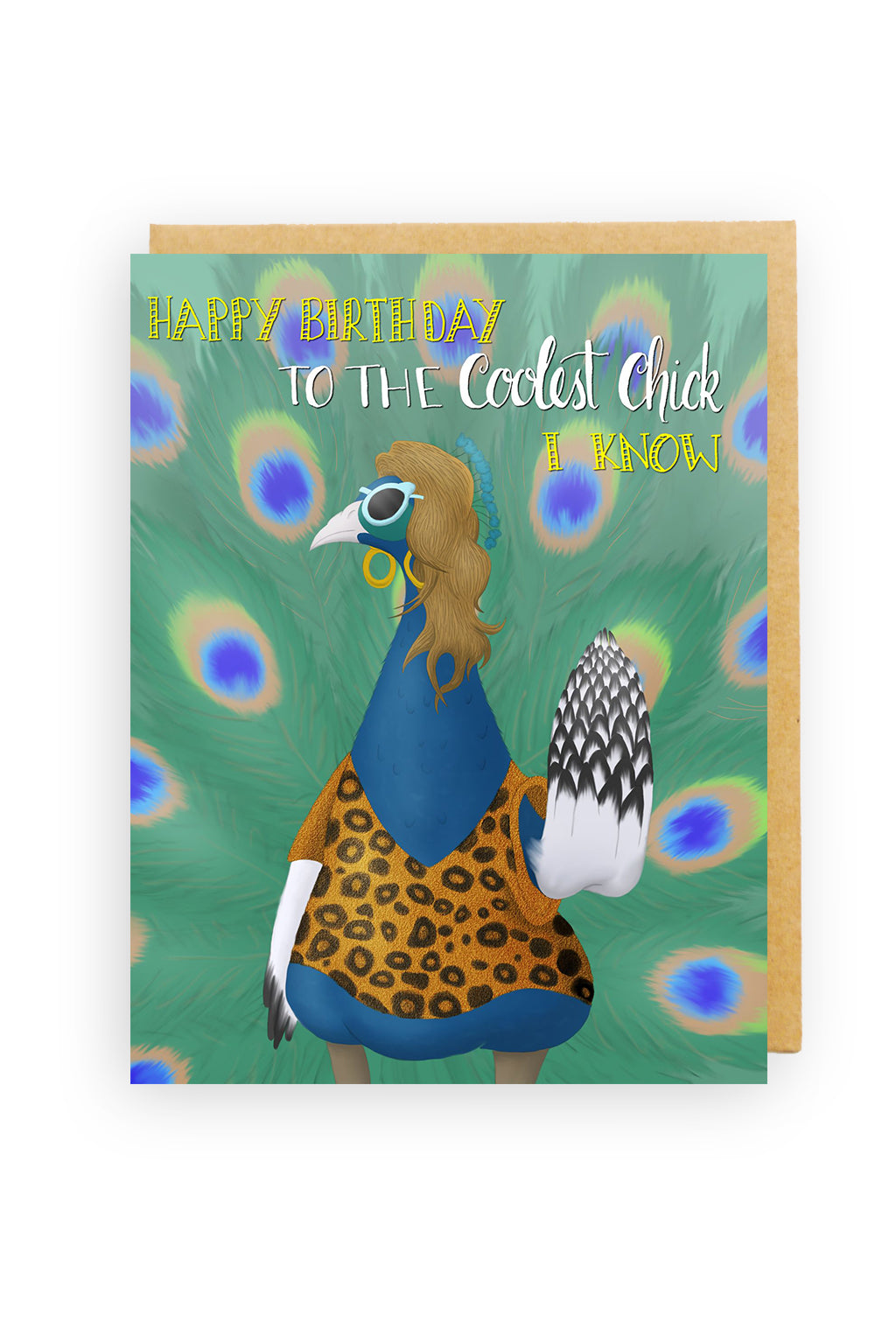 Squirrel Design Studio-Coolest Chick I Know - Birthday Card-Mott and Mulberry
