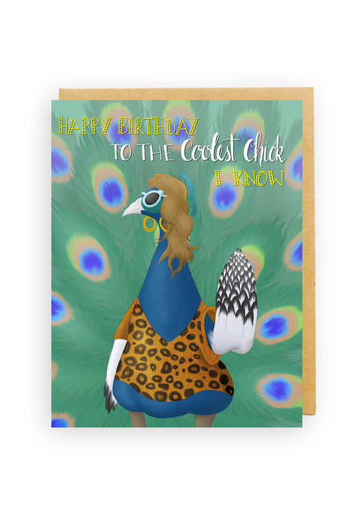 Squirrel Design Studio-Happy Birthday To The Coolest Chick Card-mott-and-mulberry-shop-online-brisbane