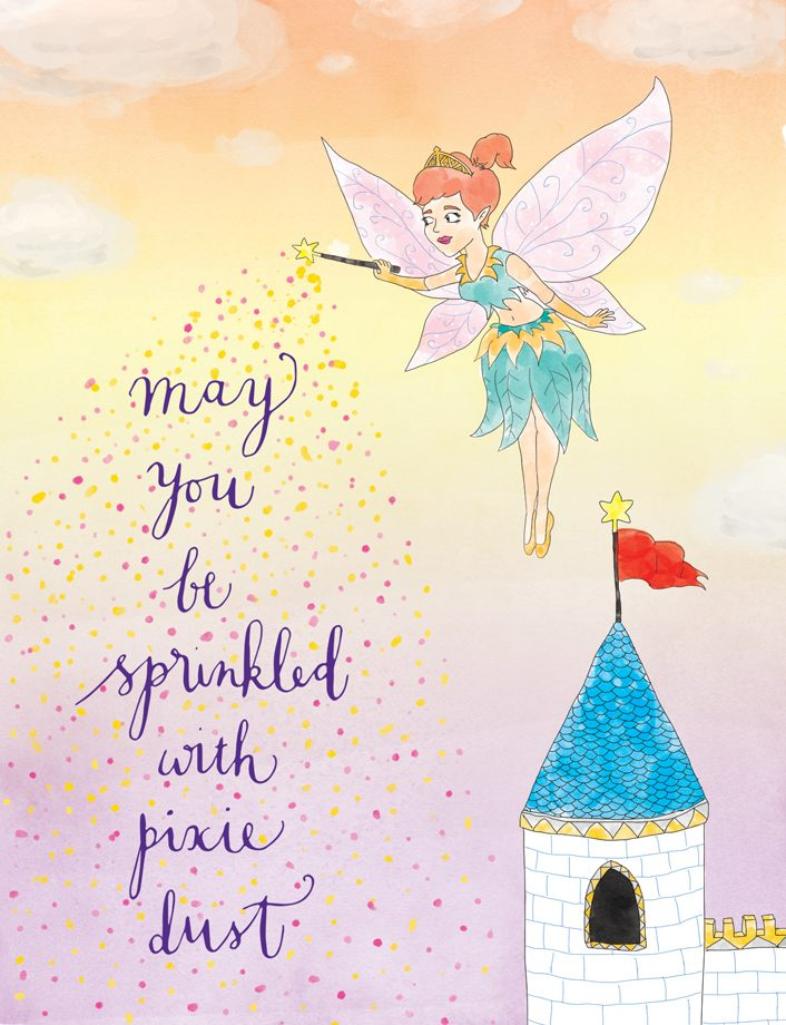 Squirrel Design Studio-May You Be Sprinkled With Pixie Dust - Greeting Card-Mott and Mulberry
