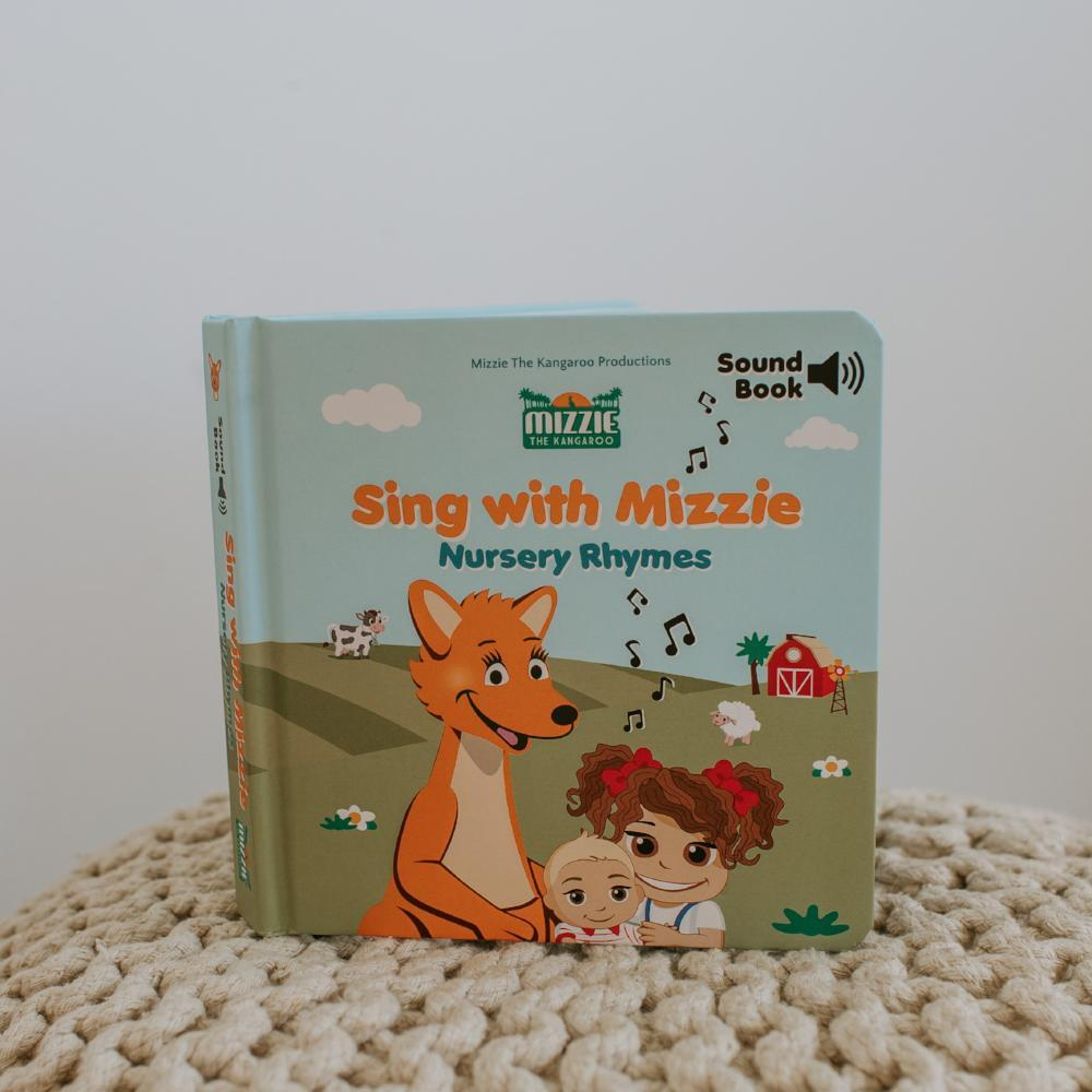 Mizzie The Kangaroo-SOUND BOOK 'Sing With Mizzie - Nursery Rhymes'-Mott and Mulberry