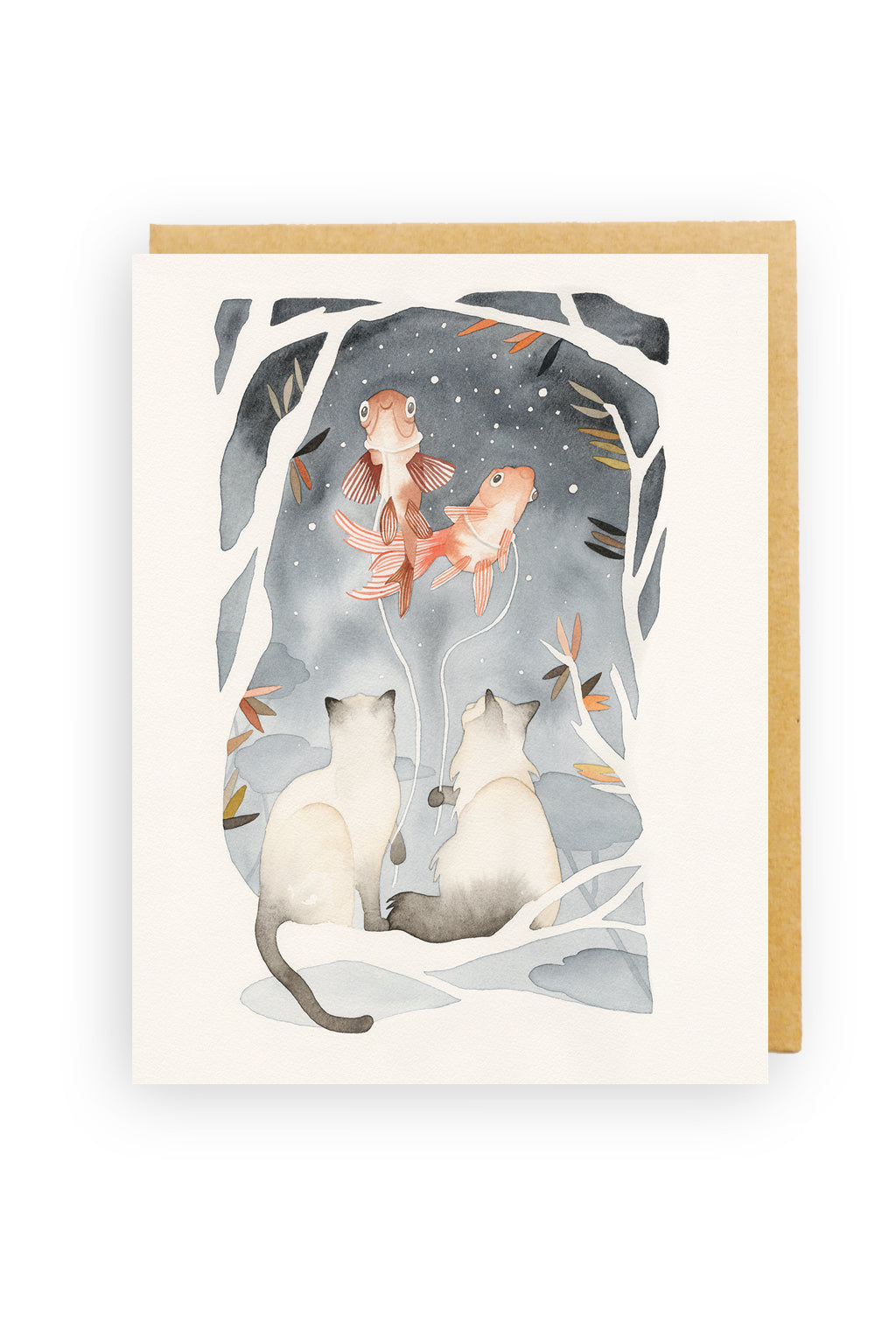 Squirrel Design Studio-Night Walk - Greeting Card-Mott and Mulberry