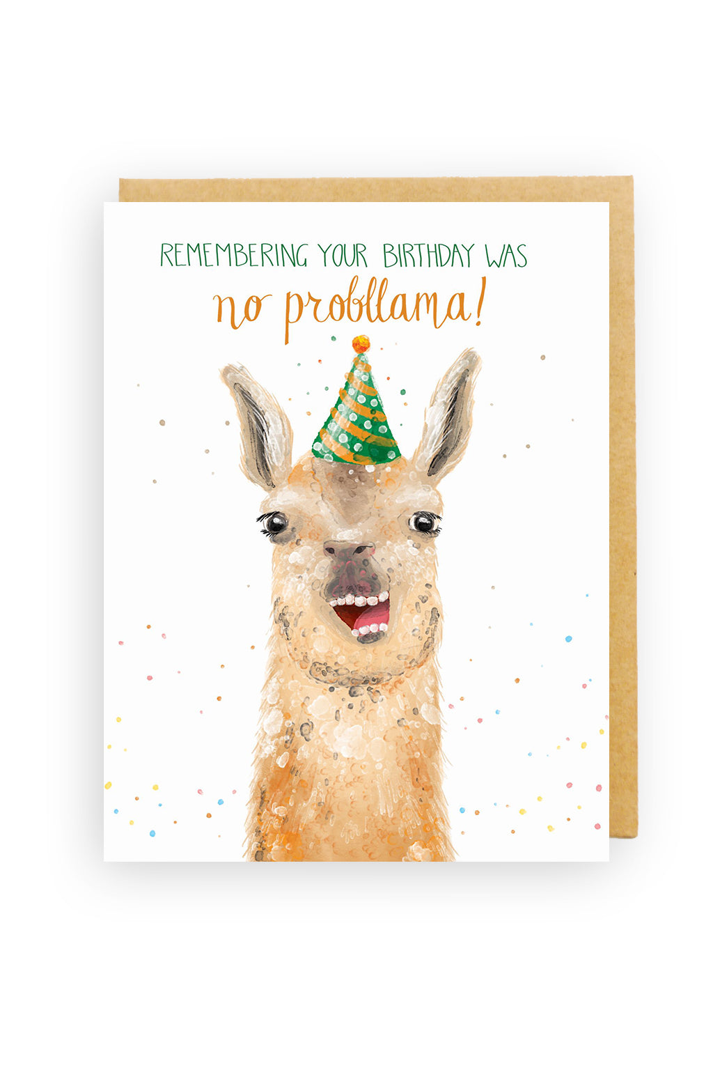 Squirrel Design Studio-No Probllama - Birthday Card-Mott and Mulberry