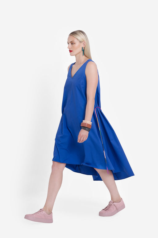 ELK-Nyland Dress Cobalt-mott-and-mulberry-shop-online-brisbane