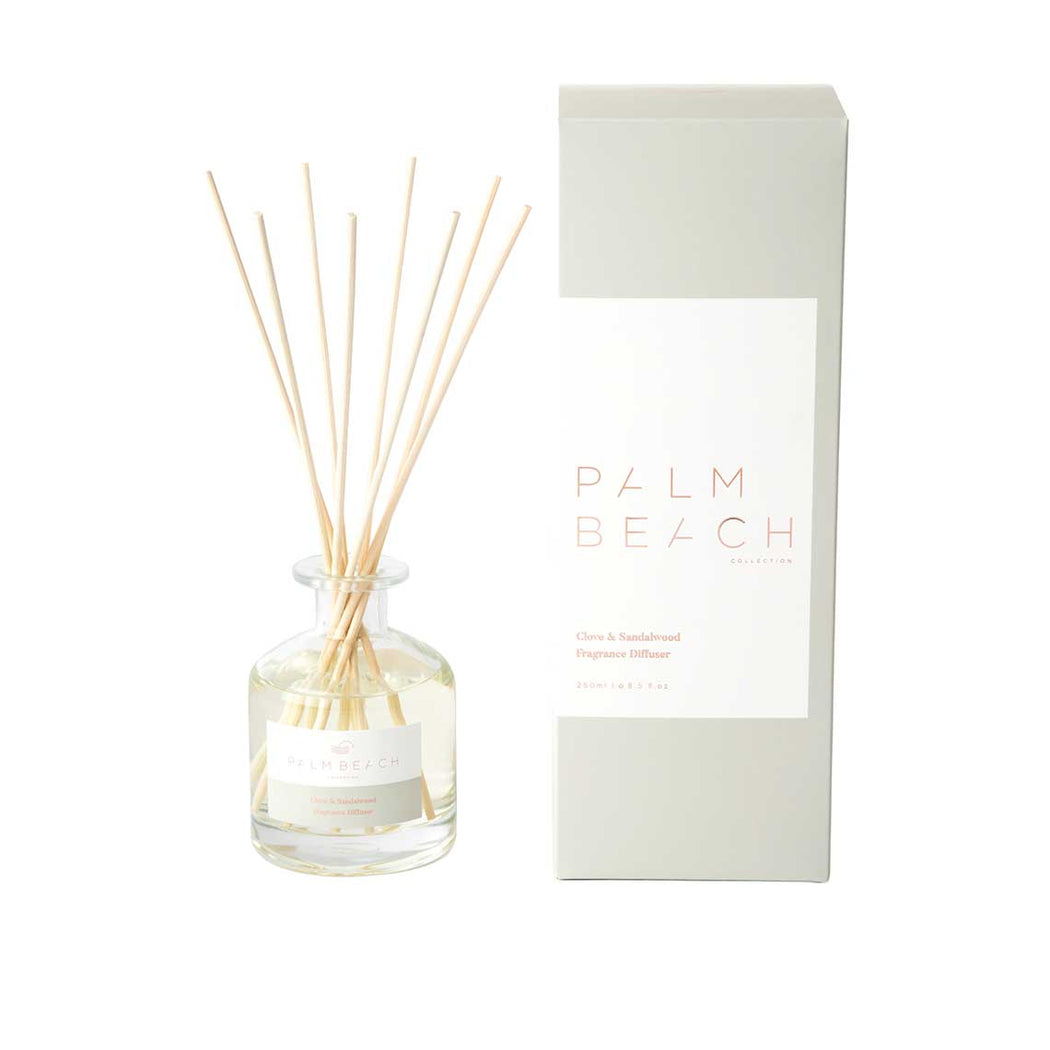 Palm Beach-PALM BEACH Fragrance Diffuser Clove and Sandalwood 250ml-mott-and-mulberry-shop-online-brisbane