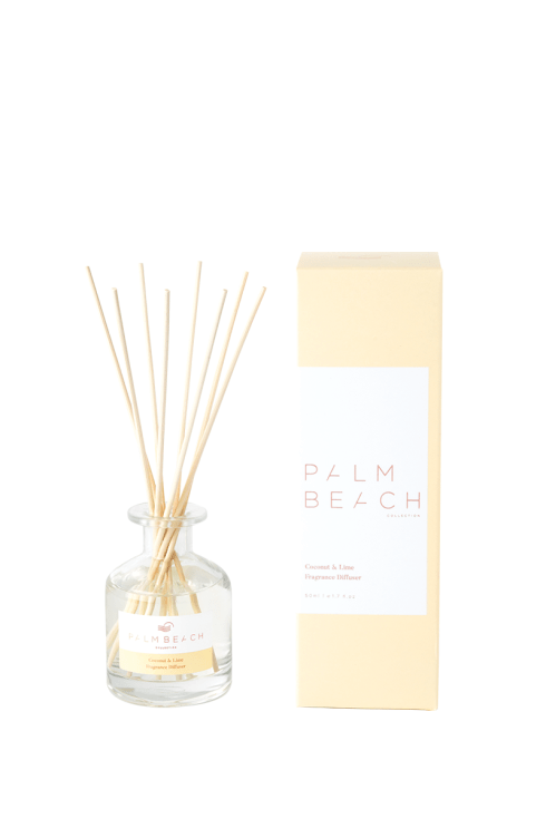 Palm Beach-PALM BEACH Fragrance Diffuser Coconut and Lime 50ml-Mott and Mulberry
