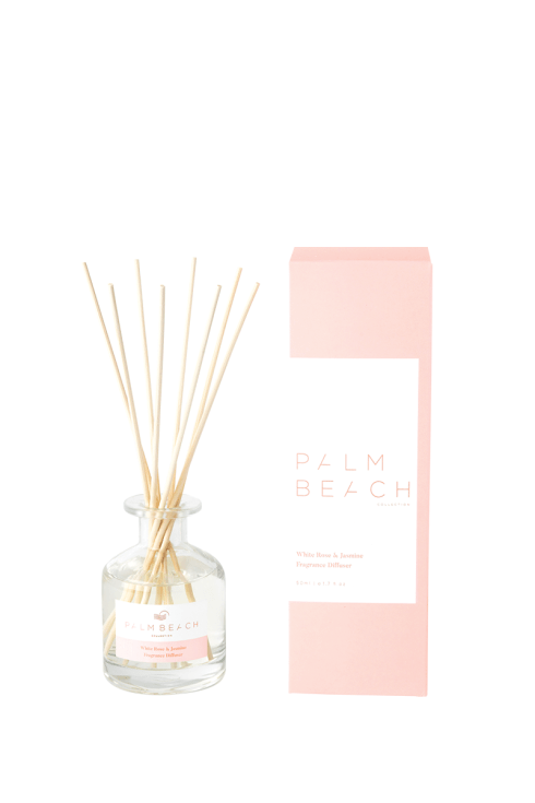 Palm Beach-Palm Beach Fragrance Mini Diffuser White Rose and Jasmine 50ml-Mott and Mulberry