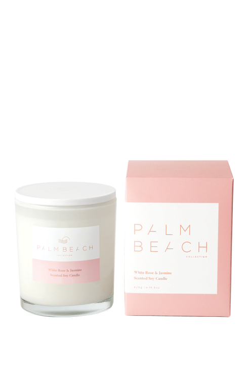 Palm Beach-Palm Beach Fragrance White Rose and Jasmine Standard Candle-Mott and Mulberry