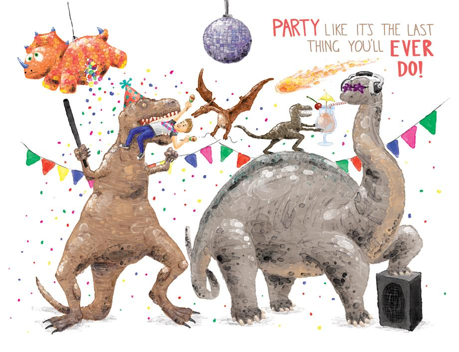 Squirrel Design Studio-Party Like It's The Last Thing You'll Ever Do - Birthday Card-Mott and Mulberry