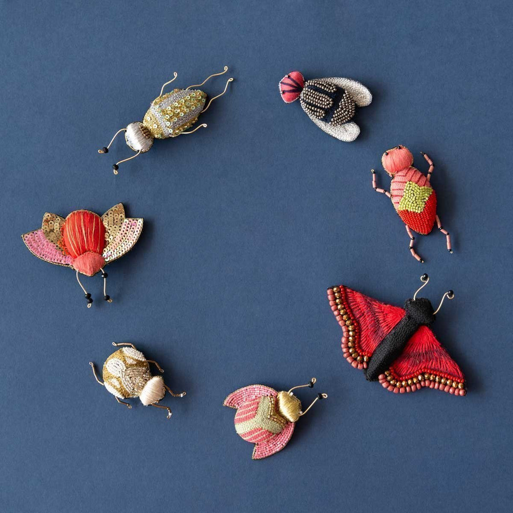 Ruby Olive-Delicate Brooch - Chic Charlotte-Mott and Mulberry