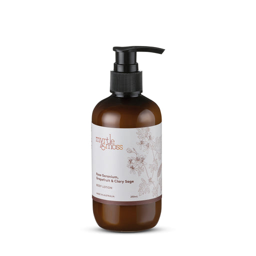 Myrtle and Moss-Rose Geranium Body Lotion 250ml-mott-and-mulberry-shop-online-brisbane