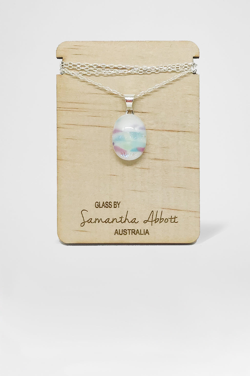 Samantha Abbott Glass-Glass Pendant Necklace - Cloud-Mott and Mulberry