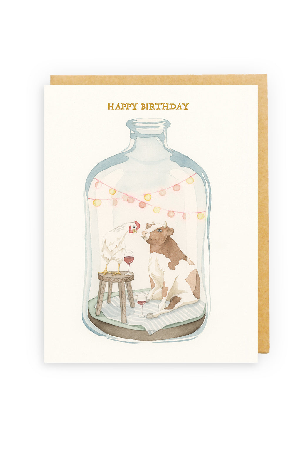 Squirrel Design Studio-Isolation Party For Two  - Greeting Card-Mott and Mulberry