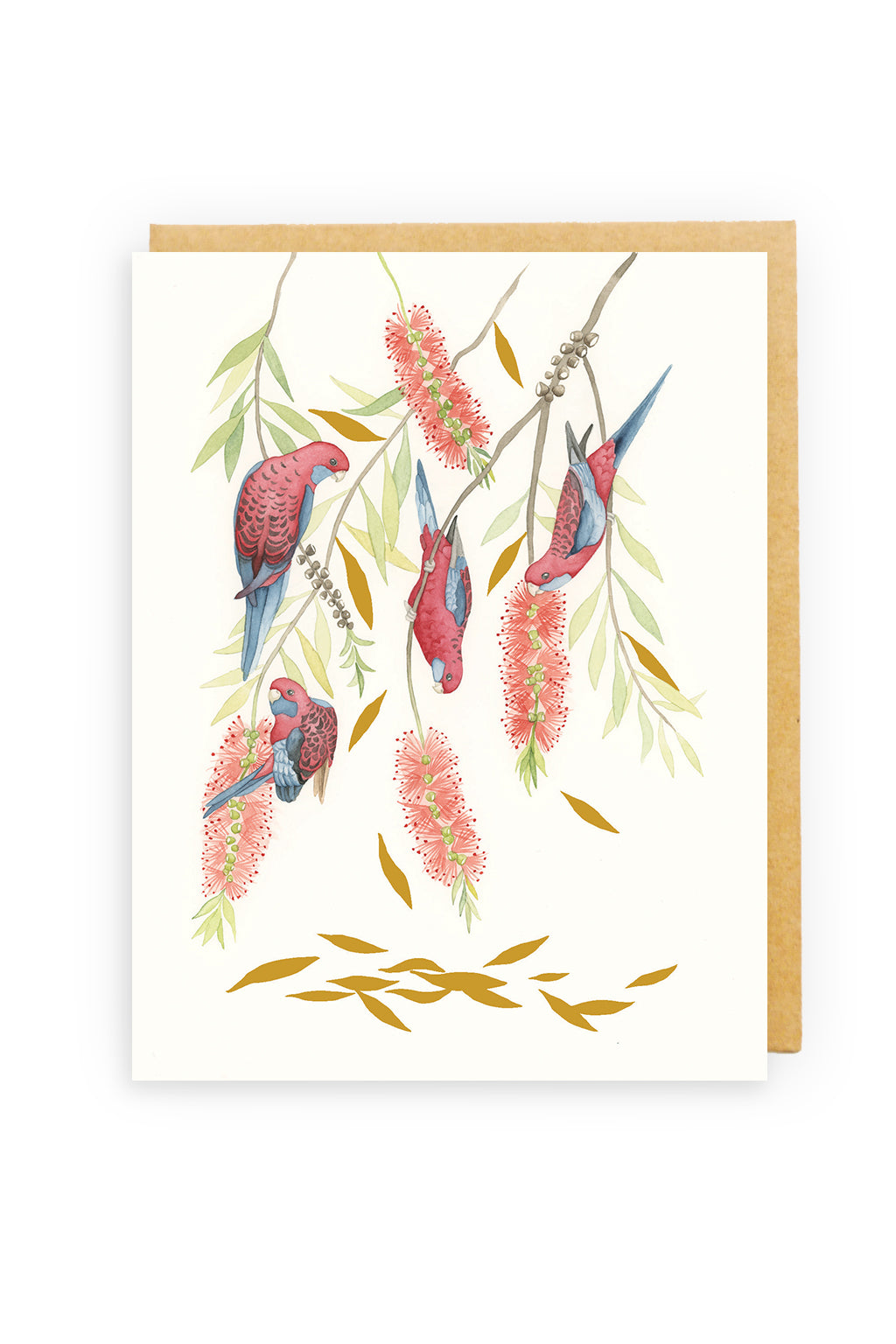 Squirrel Design Studio-Bella Rosella GOLD FOIL  - Greeting Card-Mott and Mulberry