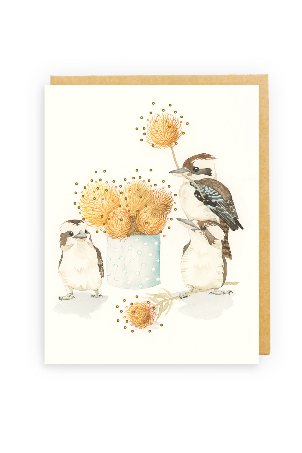 Squirrel Design Studio-Florist Flock GOLD FOIL  - Greeting Card-Mott and Mulberry