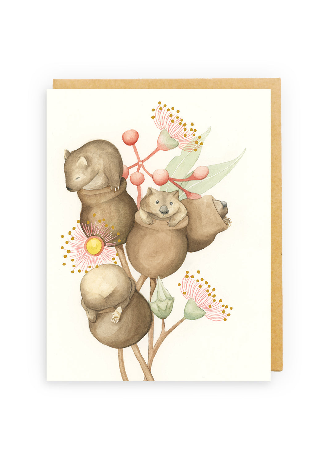 Squirrel Design Studio-Womnut GOLD FOIL  - Greeting Card-Mott and Mulberry