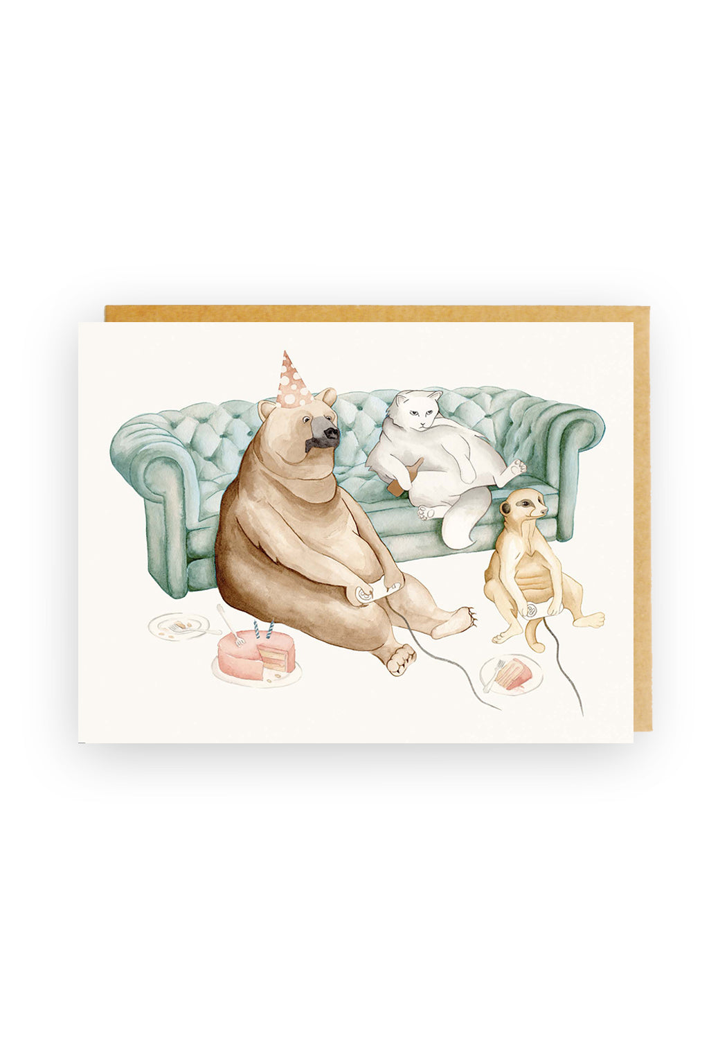 Squirrel Design Studio-Procrastination - Birthday Card-Mott and Mulberry