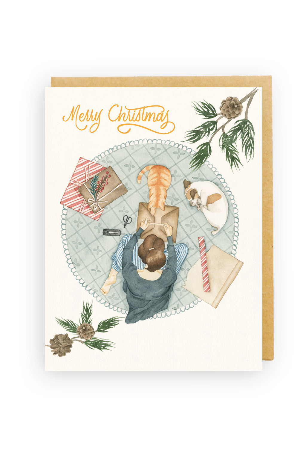 Squirrel Design Studio-That's A Wrap - Christmas Card-Mott and Mulberry