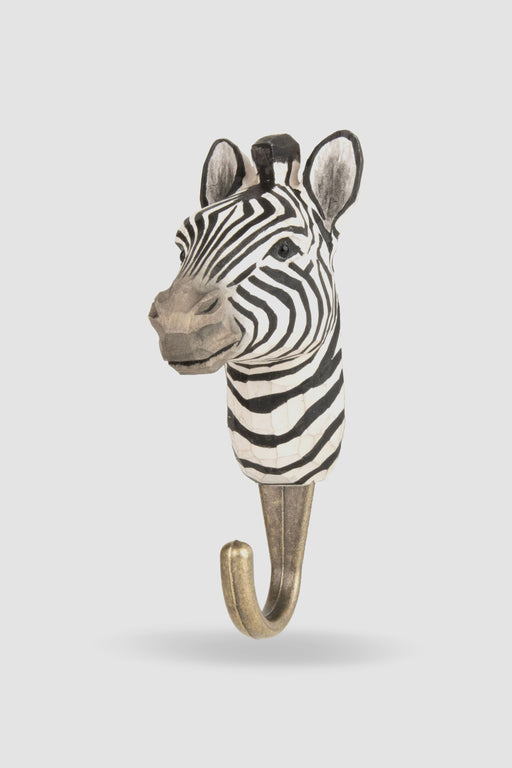 Hall and Wares-Hand Carved Zebra   Hook-Mott and Mulberry