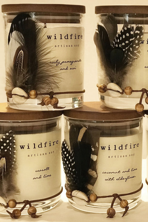 Wildfire-Seasalt and lime Candle-Mott and Mulberry