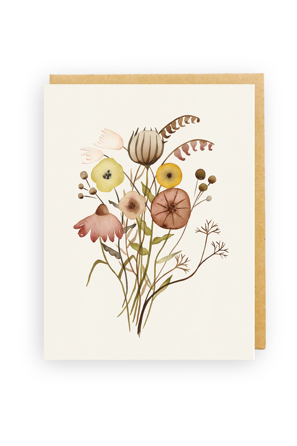 Squirrel Design Studio-Wildflowers - Greeting Card-Mott and Mulberry