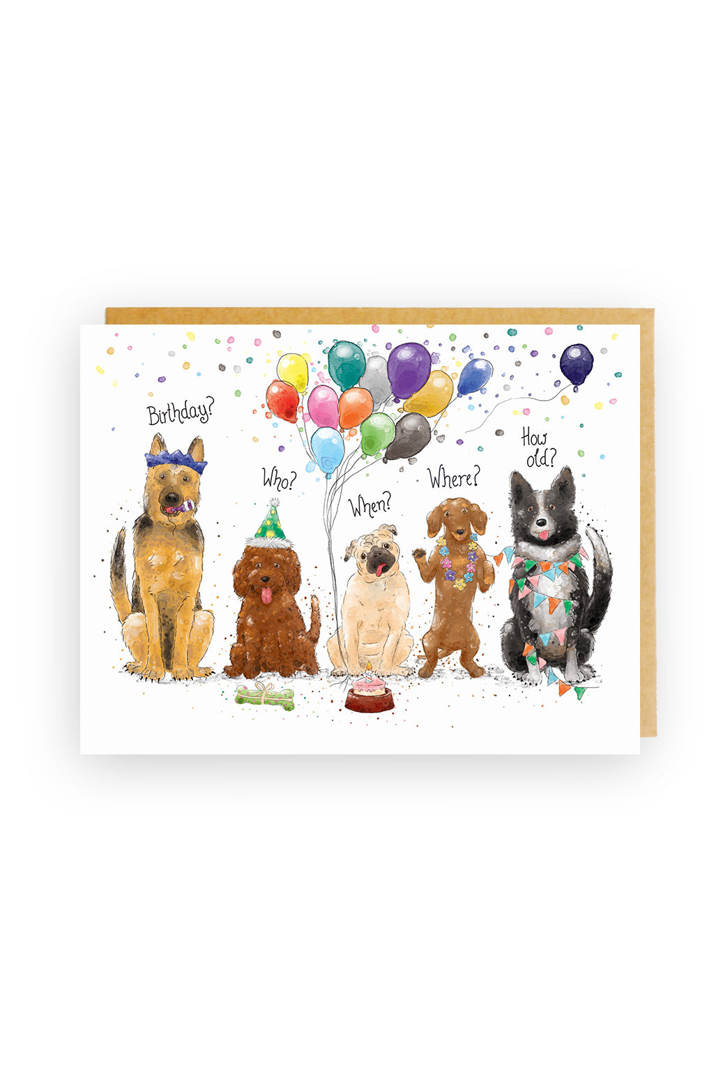 Squirrel Design Studio-Birthday Dogs - Birthday Card-Mott and Mulberry