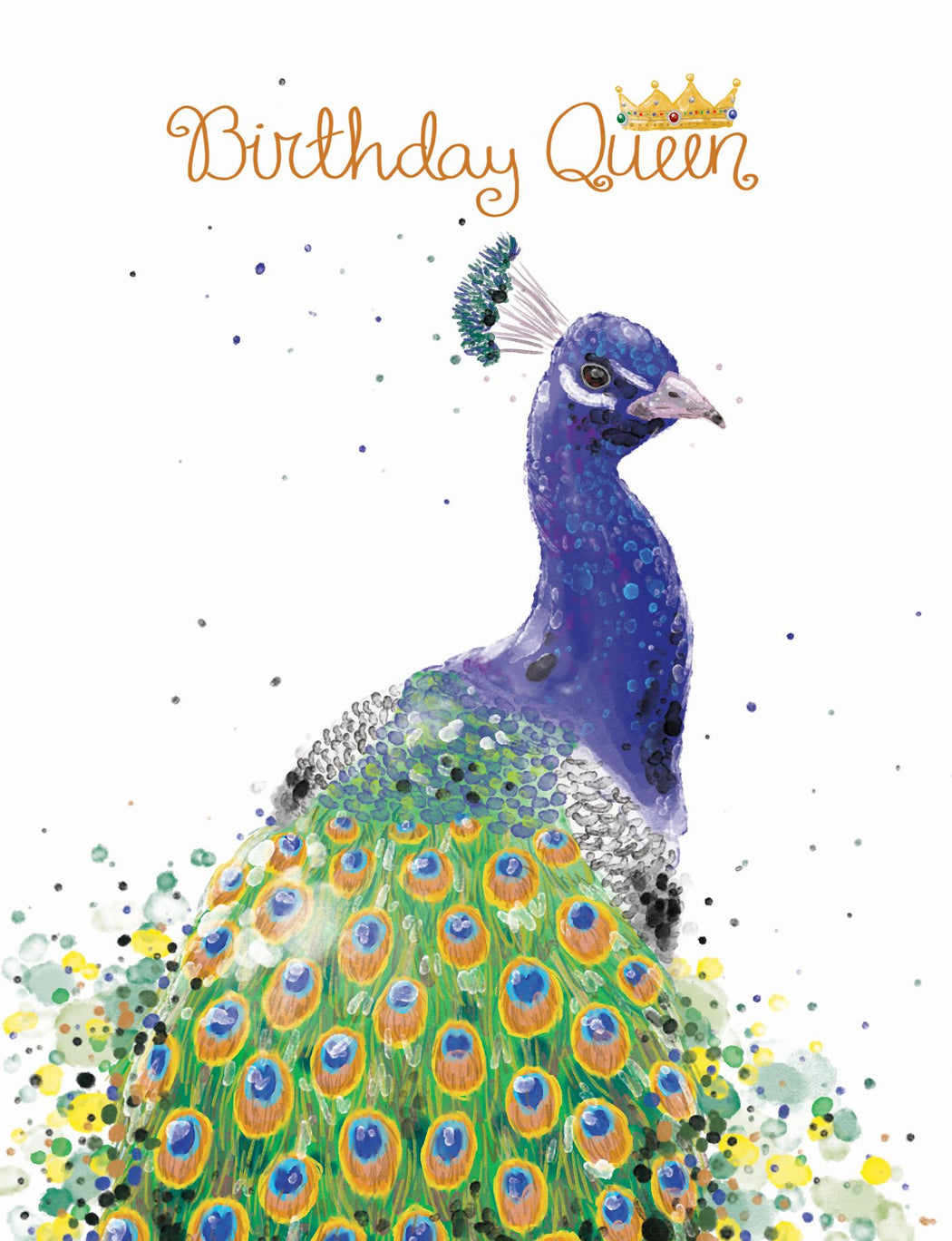 Squirrel Design Studio-Birthday Queen Peacock - Birthday Card-Mott and Mulberry