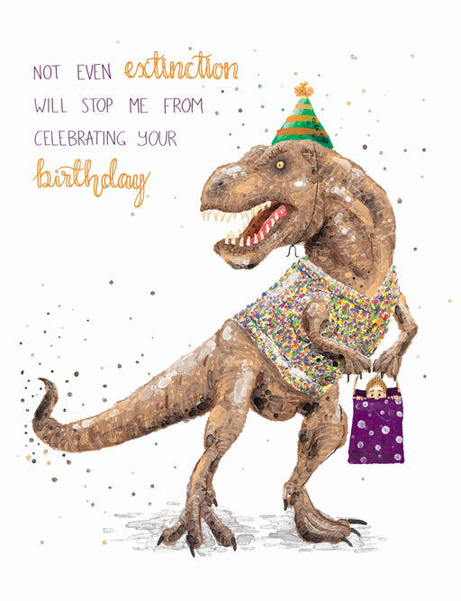 Squirrel Design Studio-Not Even Extinction Will Stop Me From Celebrating Your Birthday - Card-mott-and-mulberry-shop-online-brisbane