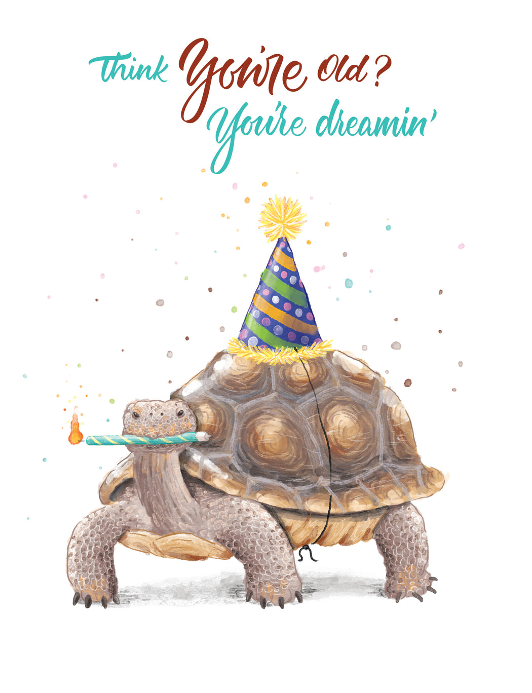 Squirrel Design Studio-Think You're Old? You're Dreamin' Tortoise - Birthday Card-Mott and Mulberry