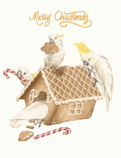 Squirrel Design Studio-Cockatoo Carnage - Christmas Card-Mott and Mulberry