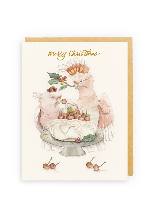 Squirrel Design Studio-Emma's Pavlova - GOLD FOIL Christmas Card-Mott and Mulberry