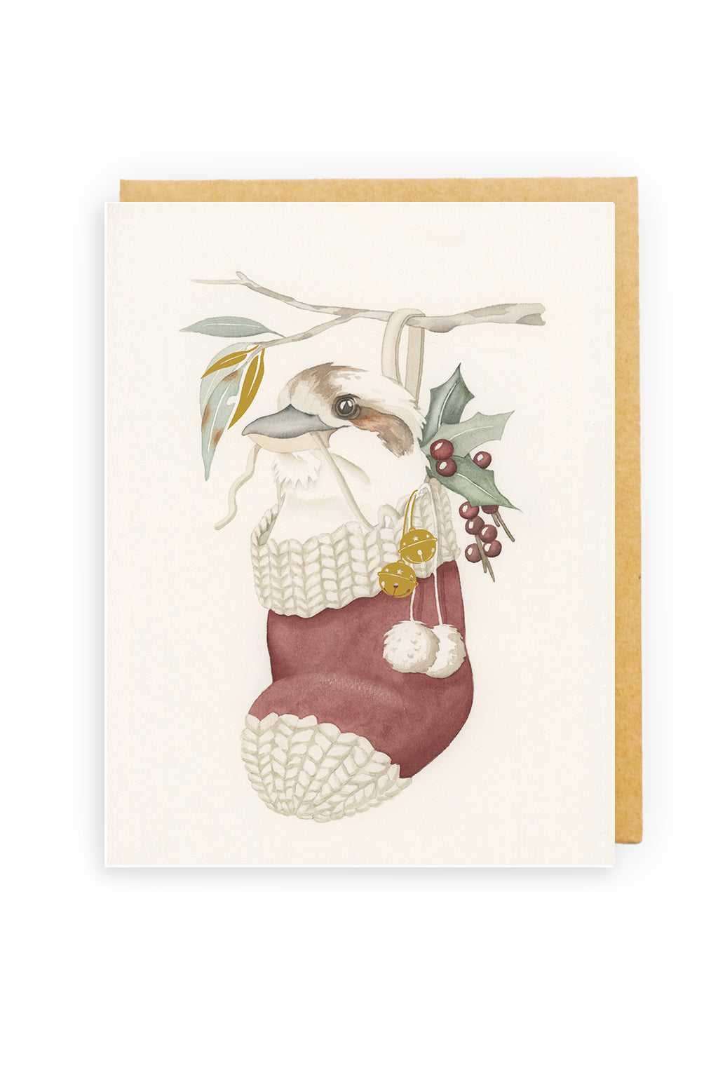 Squirrel Design Studio-Stocking Filler - GOLD FOIL Christmas Card-Mott and Mulberry