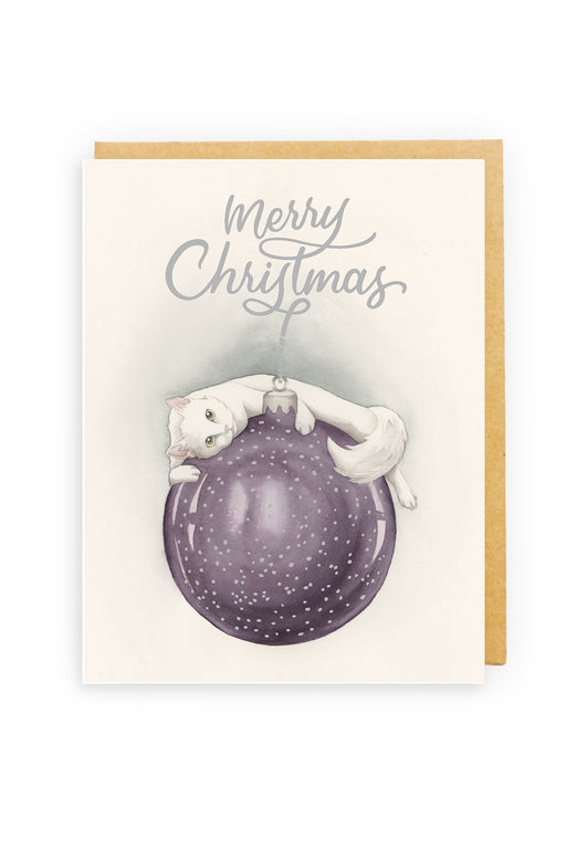 Squirrel Design Studio-Hanging Around - GOLD FOIL Christmas Card-Mott and Mulberry