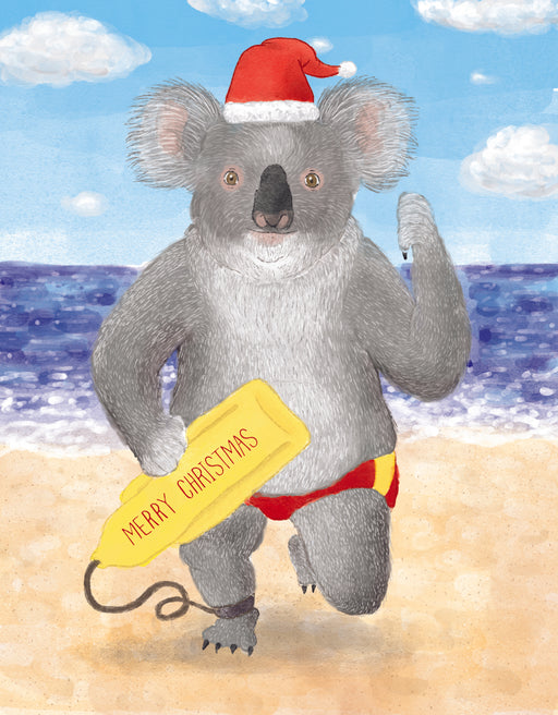 Squirrel Design Studio-Christmas Koala Card-mott-and-mulberry-shop-online-brisbane